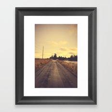 The Road Not Taken Framed Art Print