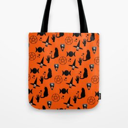 Witchy Halloween Print Tote Bag