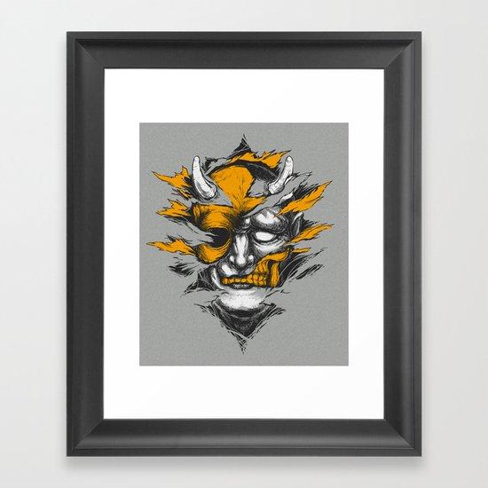 Devil Beside You Framed Art Print