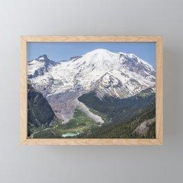 Mount Rainier on the Sunrise Side Framed Mini Art Print