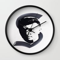 sam smith Wall Clocks featuring Sam Smith by Kunooz