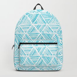 Blue Watercolor Triangular Pattern Backpack
