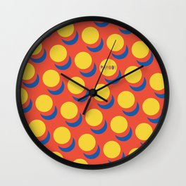Wanna-Be Roy Lichtenstein Pattern & Letterform Wall Clock