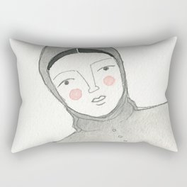 Winter Hood Rectangular Pillow