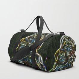 Mother and child neon glow - by Brian Vegas Duffle Bag
