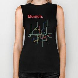 Munich Transit Map Biker Tank