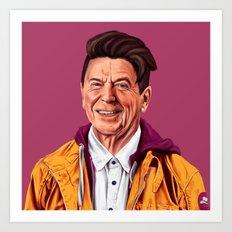 Hipstory - Ronald Reagan Art Print