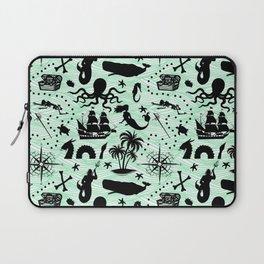 High Seas Adventure // Sea-Green Waves Laptop Sleeve