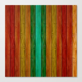 Colorful Wood Texture Canvas Print