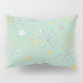 Grey Yellow Geometric Circles Green Bkgrd Pillow Sham