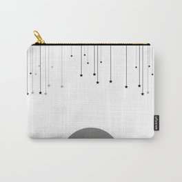Falling Stars White Carry-All Pouch
