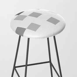 Gray Scale In Pixels Bar Stool