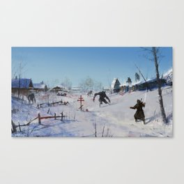 very severe winter... Canvas Print