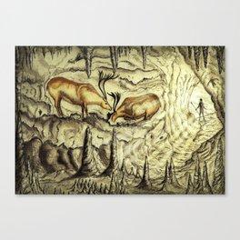 Rock Shelter Reindeer  Canvas Print