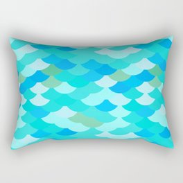 pattern scales, wave abstract simple Nature background mermaid Rectangular Pillow