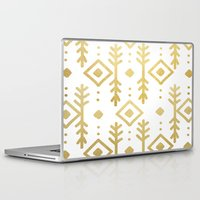 nordic Laptop & iPad Skins featuring GOLD NORDIC by Nika