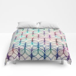 Mermaid's Braids - a colored pencil pattern Comforters