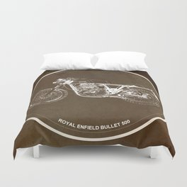 Royal Enfield motorcycle quote - For some there's therapy Duvet Cover