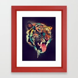 FEROCIOUS TIGER Framed Art Print