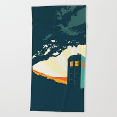 Tardis Travel Beach Towel