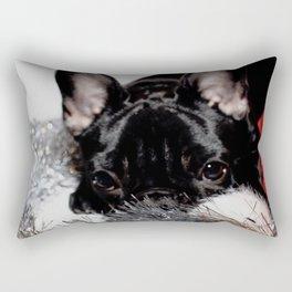 Xmas Frenchie I Rectangular Pillow