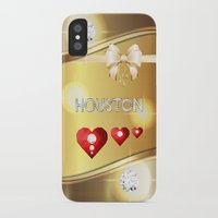 houston iPhone & iPod Cases featuring Houston 01 by Daftblue
