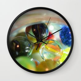 Vintage Glass Marbles 17 Wall Clock