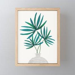 Fan Palm Fronds / Tropical Plant Illustration Framed Mini Art Print