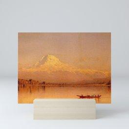 Sanford Robinson Gifford - Mount Rainier, Bay of Tacoma Mini Art Print