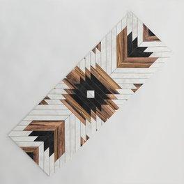Urban Tribal Pattern No.5 - Aztec - Concrete and Wood Yoga Mat