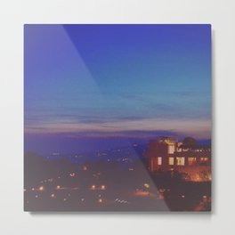 The Getty at Twilight Metal Print