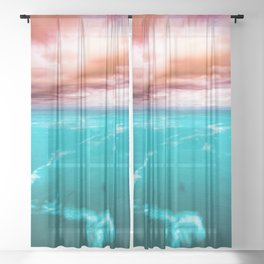 Fire and Water Sea Sheer Curtain