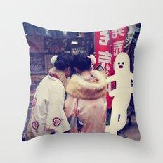 t o k y o s t r e e t d a n c e r Throw Pillow
