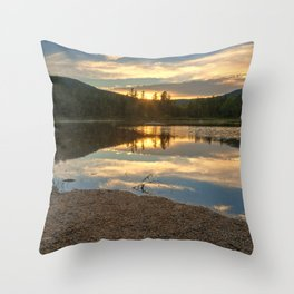 Lily Pond Sunset Throw Pillow