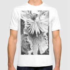Grace in an Orchid MEDIUM White Mens Fitted Tee