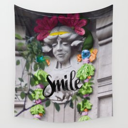 Smile - Cara Dura Proyect Wall Tapestry