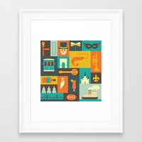 new orleans Framed Art Prints featuring New Orleans by Ariel Wilson