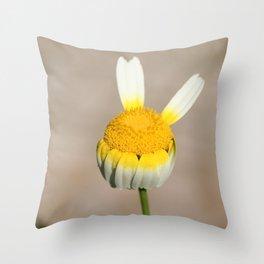 Hippie flower making peace sign Throw Pillow