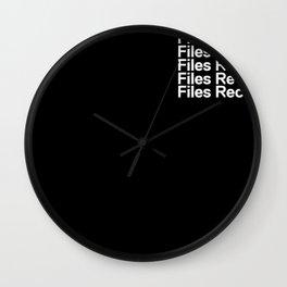 Pocket tee Wall Clock