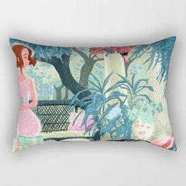 Flowered terrace Rectangular Pillow