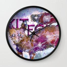 Kitfox Wall Clock