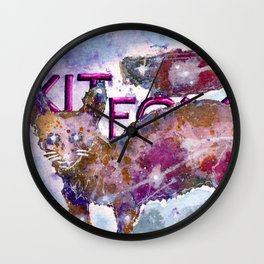 Kitfox Wall Clock