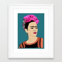 frida kahlo Framed Art Prints featuring Frida Kahlo by Stephanie Jett