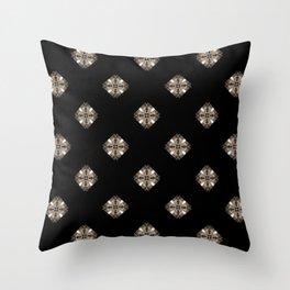 Simulated illuminated diamond pattern Throw Pillow