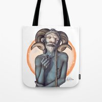bill Tote Bags featuring Bill by Alexa-Renee