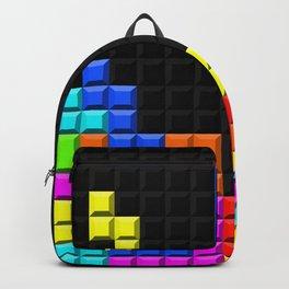 Retro Video Game Blocks Pattern Backpack