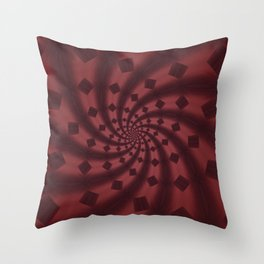 Tess Fractal in Rosewood Throw Pillow
