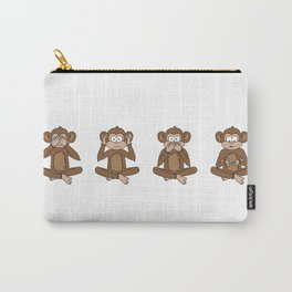 Four Wise Monkeys Carry-All Pouch