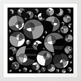 Bubble Grey 11 Art Print