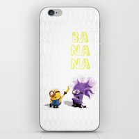 banana iPhone & iPod Skins featuring Banana by Ylenia Pizzetti